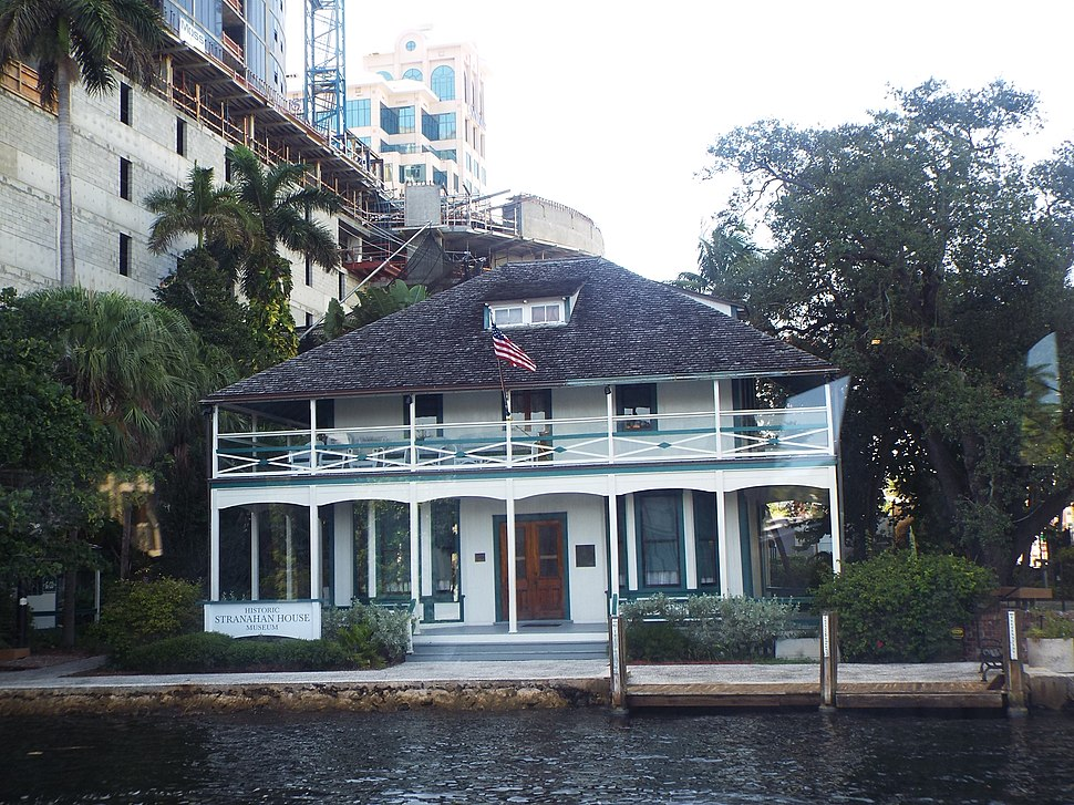 The Stranahan House was built in 1901 and is located at 335 Southeast 6th. The lower floor of the house once served as a trading post and the upper floor as a community hall. The house also served as a general store and a bank. The owner of the house, Frank Stranahan, committed suicide by drowning in the New River in front of his home. The house was listed in the National Register of Historic Places on October 2, 1973, reference #73000569.