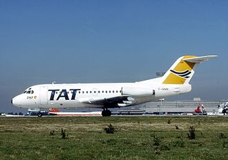 TAT European Airlines - A Fokker F28 Fellowship of TAT European Airlines at Orly Airport in 1991