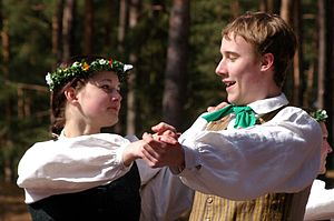 Folk dancers 2, Riga, Latvia, April 06.jpg