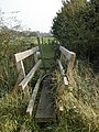 Footbridge in Draycott fields footpath - geograph.org.uk - 66109.jpg