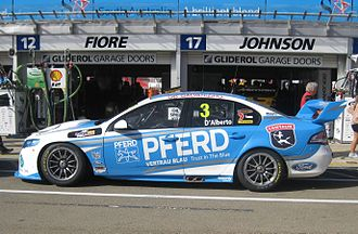 Tony D'Alberto - The Ford FG Falcon of D'Alberto at the 2012 Clipsal 500 Adelaide