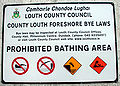 Foreshore Bye Laws sign County Louth.jpg