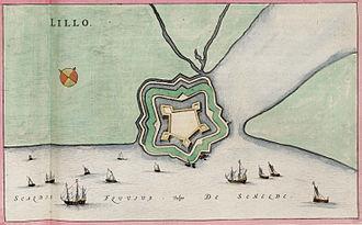 Fort Lillo - Plan of Fort Lillo, 1650