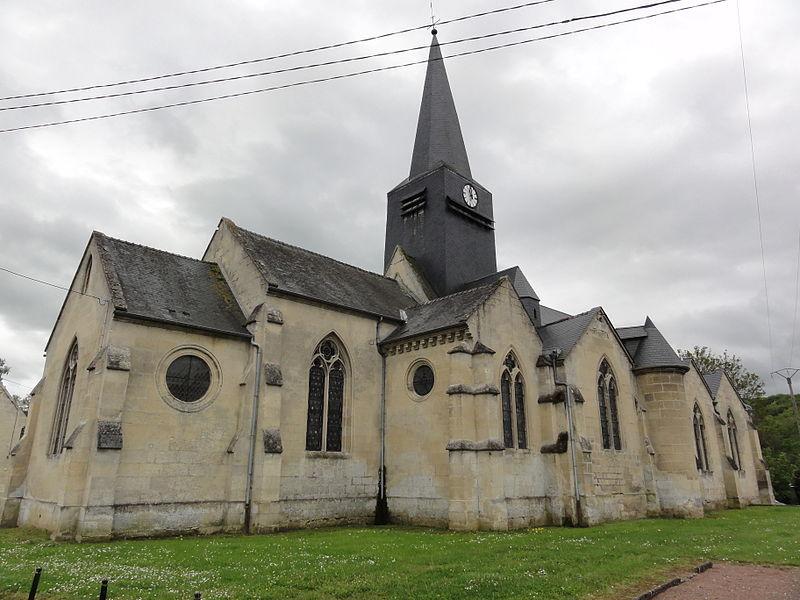 Fourdrain (Aisne) église de la Nativité-de-la -Sainte-Vierge