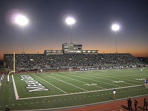 Fouts Field - Image: Fouts Field at night