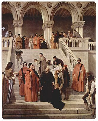 "Council of Ten - ""The Ten"" in Francesco Hayez's The Death of the Doge Marin Faliero (1867)"