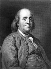 Franklin, an engraving from a painting by Joseph Duplessis.