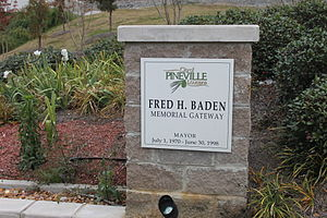 Fred Baden - The Fred H. Baden Memorial Gateway in Pineville