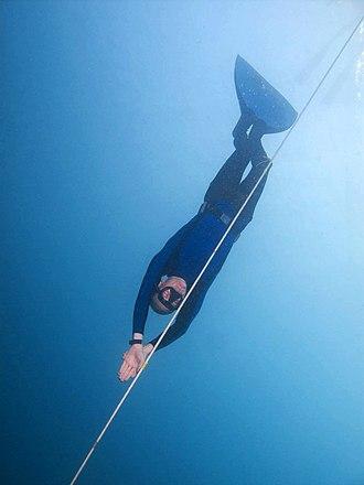 Underwater sports - Image: Freediver Moalboal