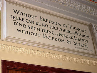 Freedom of thought - Image: Freedom of Thought Ben Franklin