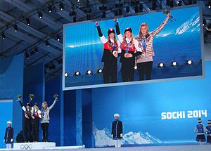 Freestyle skiing at the 2014 Winter Olympics – Women's moguls - Image: Freestyle Ladies Sochi 2014