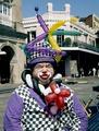 French Quarter clown, New Orleans, Louisiana LCCN2011631074.tif