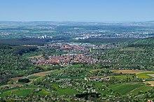 Blick auf Frickenhausen von der Burg Hohenneuffen aus