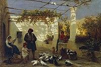 Friedrich Alois Schönn - In einer italienischen Pergola - 7408 - Österreichische Galerie Belvedere.jpg