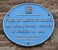 Friends Meeting House plaque - geograph.org.uk - 1175673.jpg