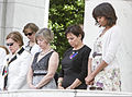 Front row, from left, Brenda Linnington, the wife of U.S. Army Maj. Gen. Michael S. Linnington, the commanding general of the Military District of Washington; Deanie Dempsey, the wife of Gen. Martin E. Dempsey 130527-D-HU462-429.jpg