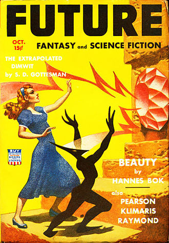 "Hannes Bok - Bok's ""Beauty"" was the cover story for the October 1942 issue of Future, and Bok himself painted the cover illustration"