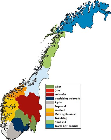 Karta Syd Norge.Norges Fylken Wikipedia