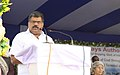G.K. Vasan addressing after inaugurating a Inland Waterways Authority of India (IWAI) Terminal at Garden Reach Jetty and flagging off the first bulk coal movement project through National Waterways, at a function, in Kolkata.jpg