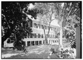 GENERAL VIEW OF NORTHEAST FACADE (REAR) OF MAIN BUILDING - Government House, King Street, Christiansted, St. Croix, VI HABS VI,1-CHRIS,34-24.tif
