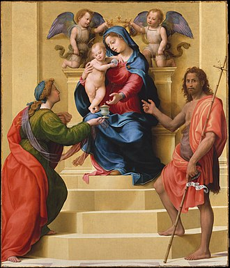 Giuliano Bugiardini - Virgin and St Mary Magdalene with St John the Baptist