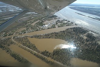 Galena, Alaska - Galena following a flood