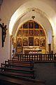 Galey (Ariège) nef et retable de l'église Saint-Quintin.JPG