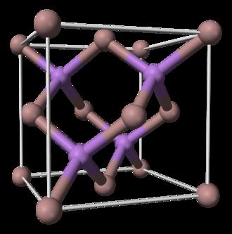 Gallium arsenide - Image: Gallium arsenide unit cell 3D balls