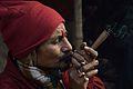 Ganja Smoking - Gangasagar Fair Transit Camp - Kolkata 2013-01-12 2641.JPG