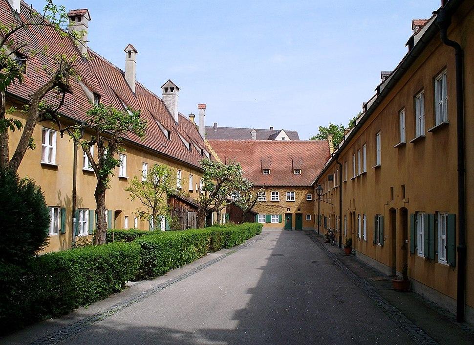 Gasse in der Fuggerei, Augsburg