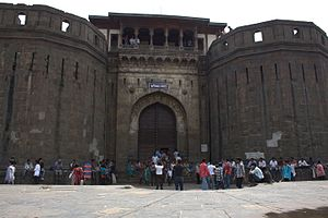 History of Pune - Shaniwar Wada, the palace and administrative headquarters built by Baji Rao I in 1730