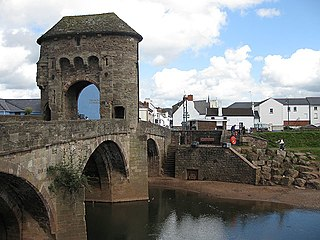 Monmouth Town in Monmouthshire, Wales