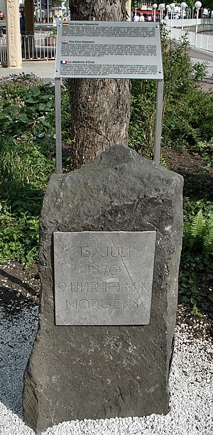 Memorial stone to the Ems Dispatch in Bad Ems