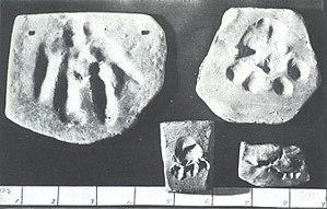 Gef - Image: Gef foot tracks and teeth marks
