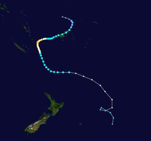 Cyclone Gene - Image: Gene 2008 track