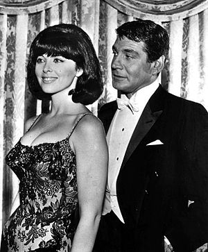 Tina Louise - Louise with Gene Barry from the television series Burke's Law (1964).