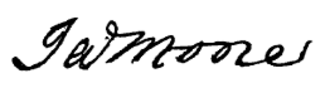 James Moore (Continental Army officer) - Image: General James Moore signature