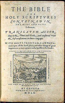 10 Libros raros y sus exorbitantes precios!(Extraído de Taringa) +++RECOMENDADO MARZO DE 2013+++ 220px-Geneva_Bible
