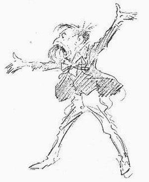 George Charles Haité - Caricature of George Charles Haité by Tom Browne