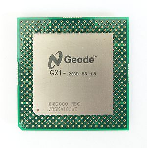 Geode (processor) - National Semiconductor Geode GX1, 233 MHz