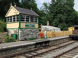 Midsomer Norton railway station - The restored signal box