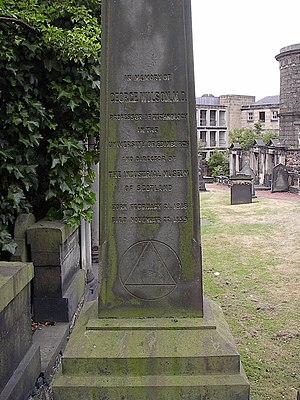 George Wilson (chemist) - Tomb of George Wilson in Edinburgh
