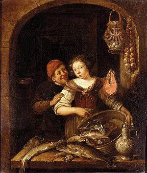 Gerrit Battem - The fish seller
