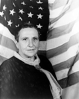 Gertrude Stein American author (1874-1946)