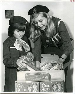Getting ready to sell cookies, 1969 (30523079416)