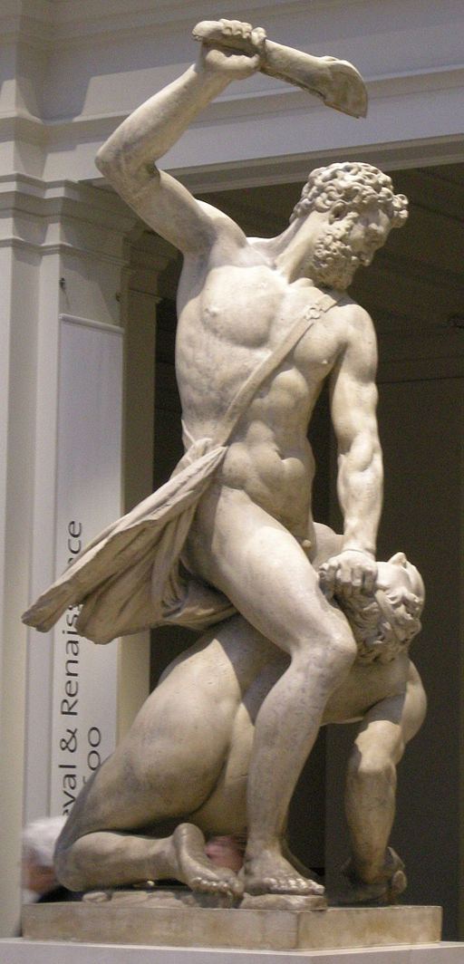 """Samson Slaying a Philistine"" by Giambologna"