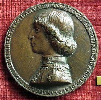 Costanzo I Sforza - Medal of Costanzo I Sforza by Gianfrancesco Enzola.