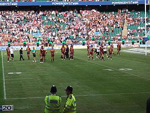 Huddersfield Giants - Huddersfield following their defeat to St. Helens in the 2006 Challenge Cup Final