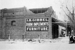 Hemet, California - Gibbel Hardware following the 1918 San Jacinto earthquake