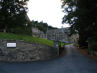 Giggleswick School - The entrance of Giggleswick School
